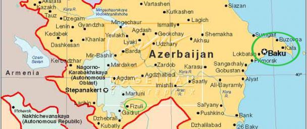 Baku Azerbaijan Map My Blog - Azerbaijan map
