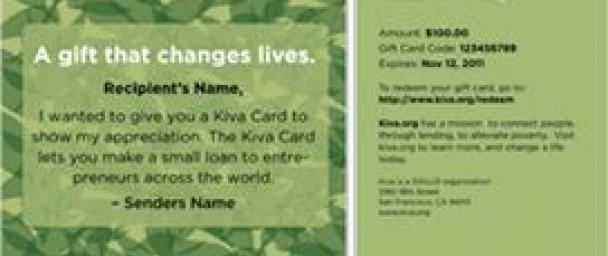 The Do-Gooder's 2011 Guide to Responsible Giving: Kiva Cards