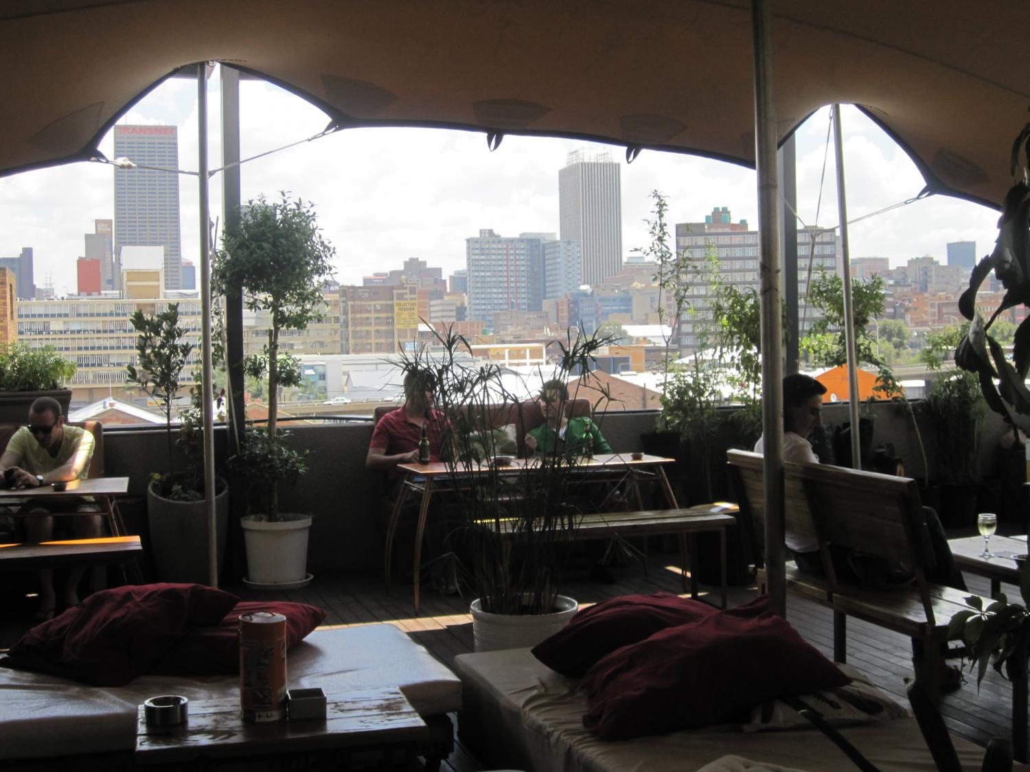 The Living Room Is A Health Food Restaurant On Rooftop In Maboneng