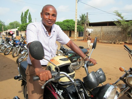 A Togolese loan officer ready for action - Michael Slattery, Togo