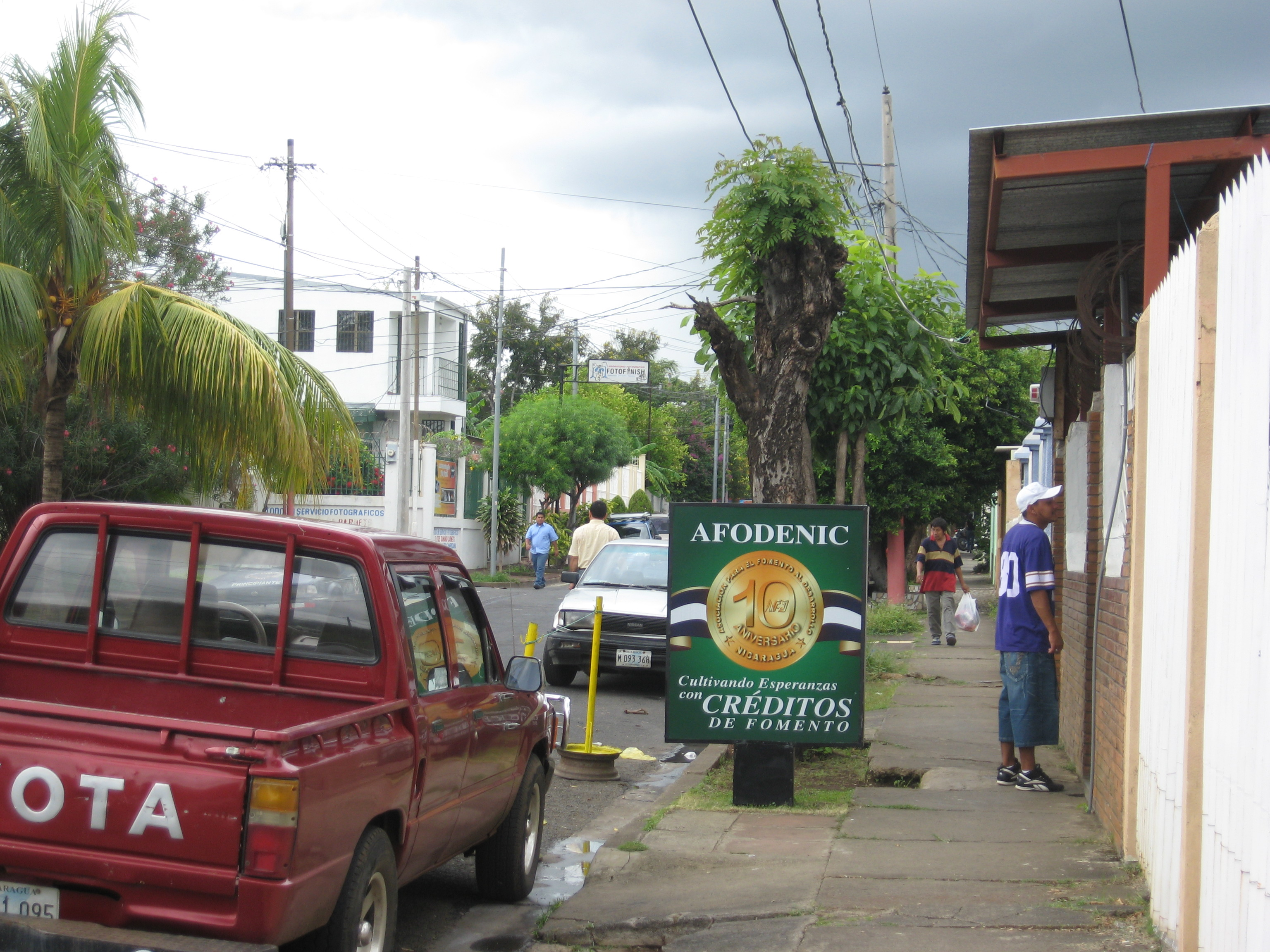 This is the street where my MFI, AFDOENIC, is. It doesn't have a name.