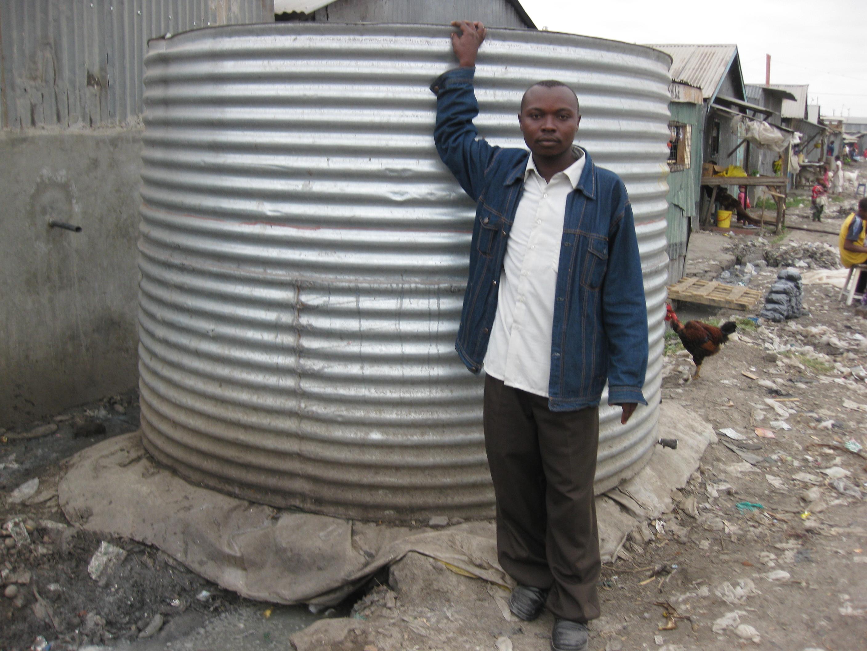 Titus, a Faulu client in Mukuru