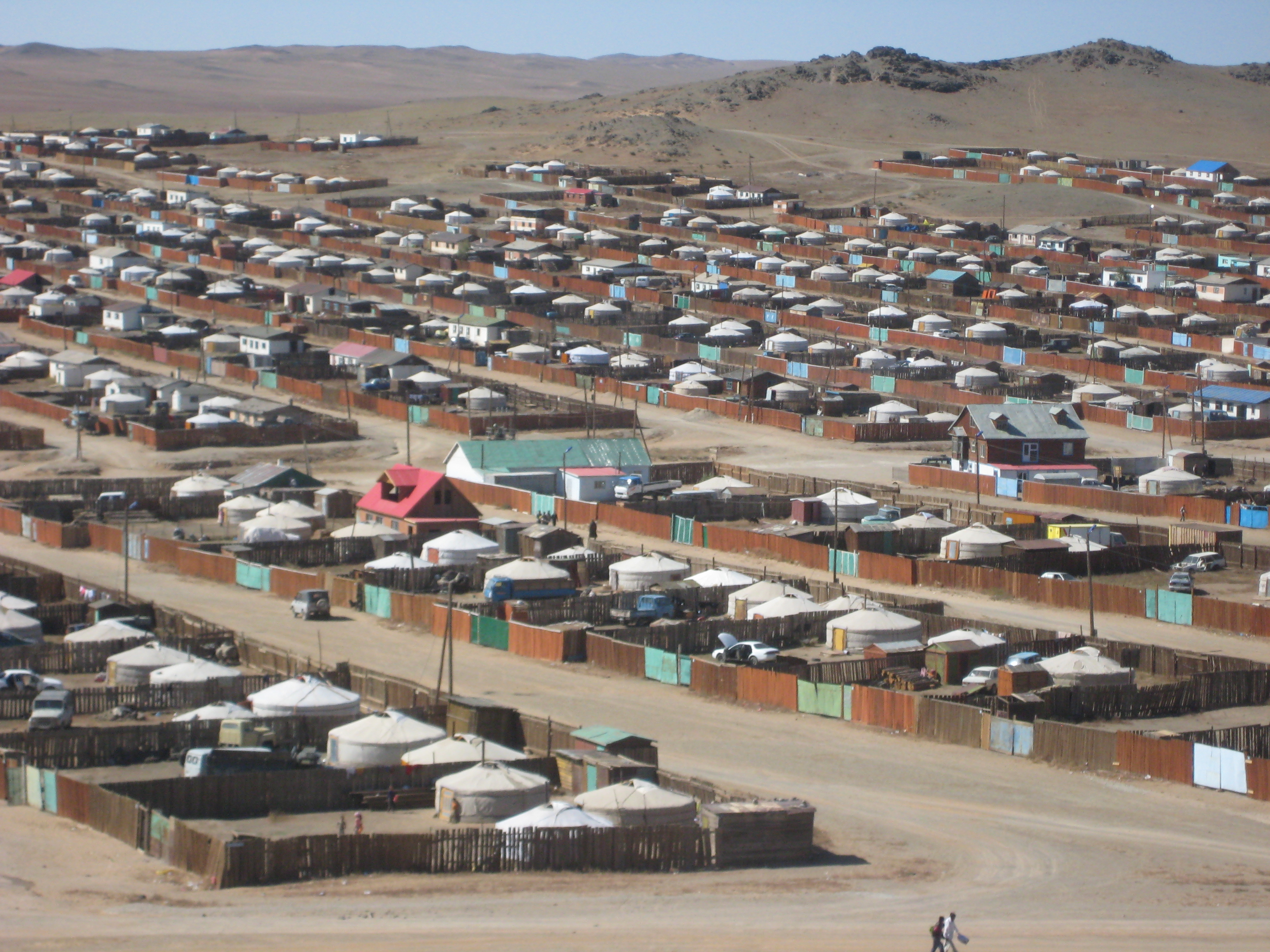 Ger Neighborhood in Bayankhongor, Mongolia