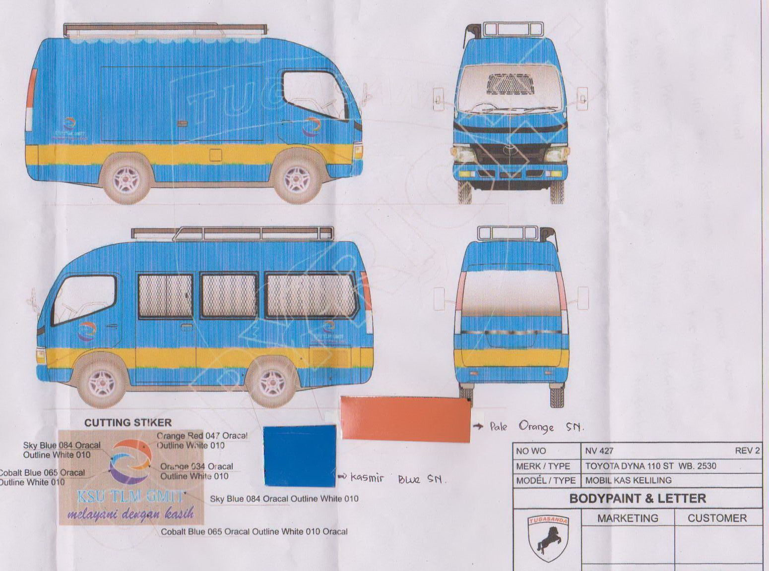 TLM Mobile Van Sketch