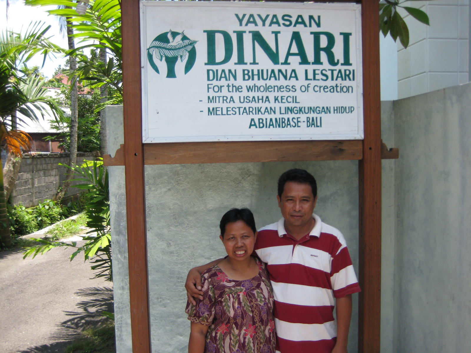 Kerti Moses and Endang at DINARI's office