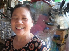 Ms. Trinh at her market stall