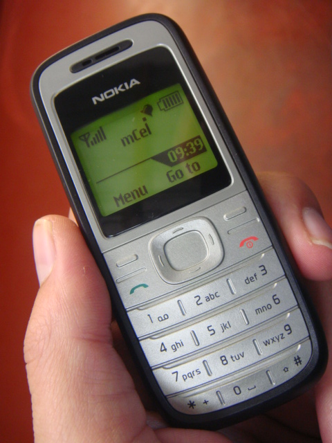 My Nokia 1200, purchased in corner shop for $USD 30