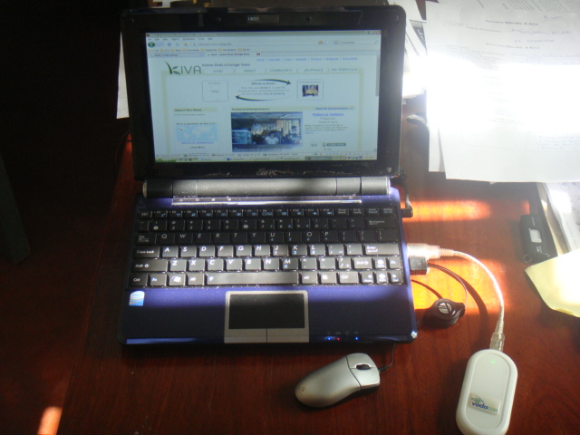 Asus Netbook with Vodacom 3G card