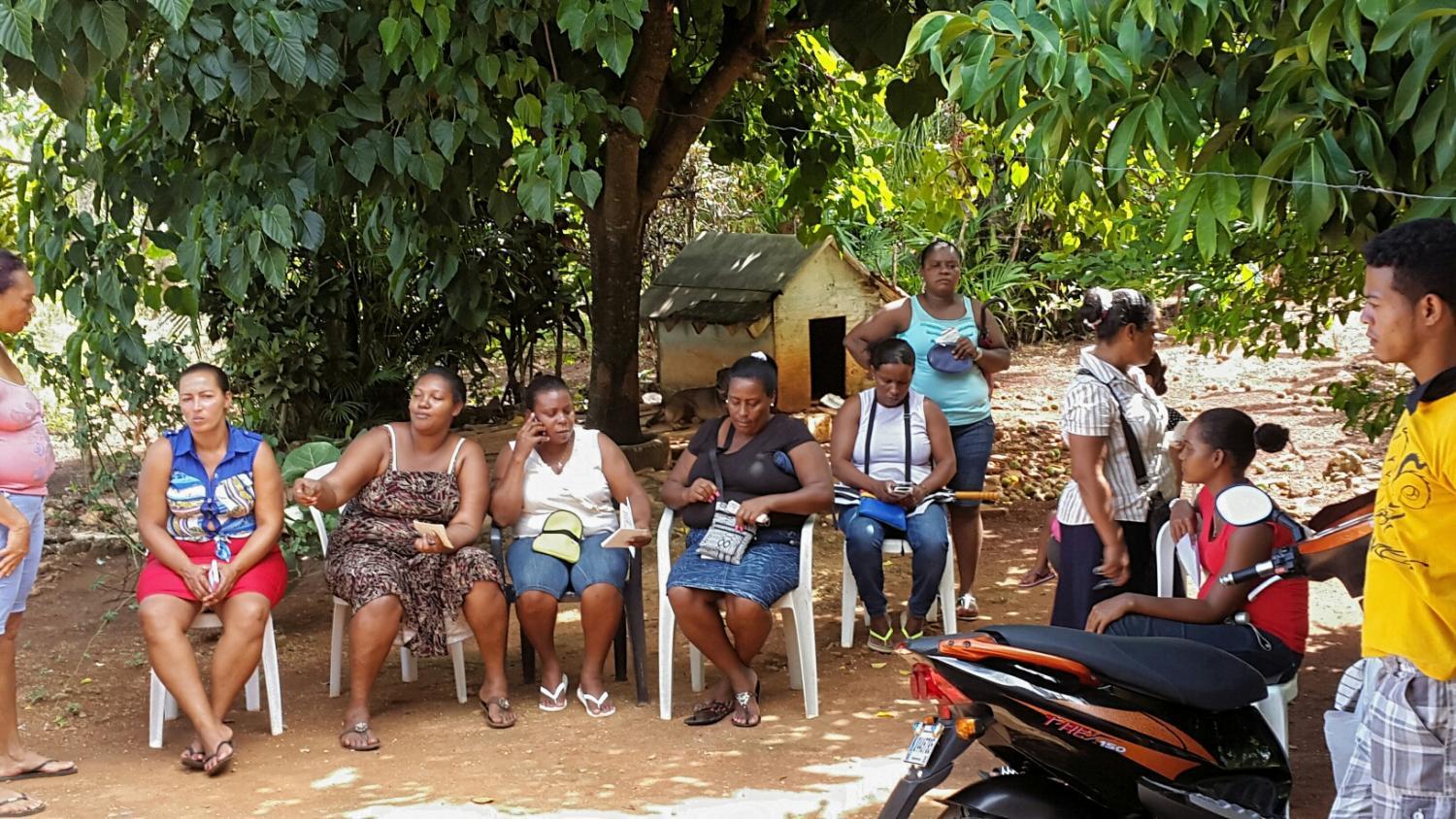 in the heart of a group loan meeting in samaná dominican republic