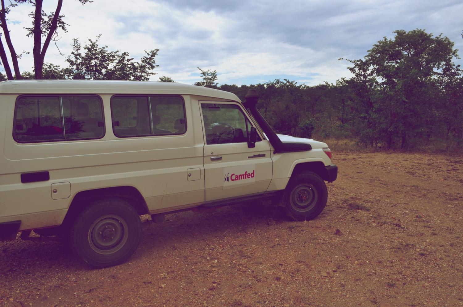 Our trusty Camfed Land Rover